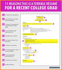 resume example for college graduate college graduate resume