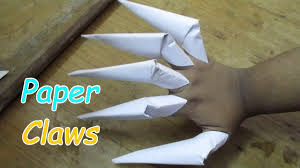 how to make awesome paper claws easy way halloween youtube