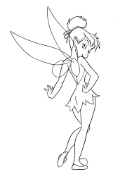 tinker bell drawing kids coloring