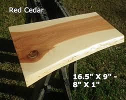 Cedar Table Top by Live Edge Red Cedar Finished Wood Slab Natural Edge Desk Top
