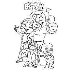 25 free printable chota bheem coloring pages