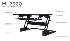 Adjustable Height Laptop Stand For Desk by Mount It Standing Desk Sit Stand Desk Converter For Laptop