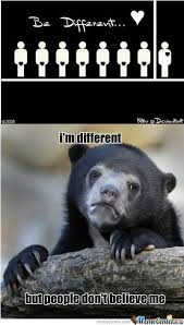 Different Meme - being different by 201200013 meme center