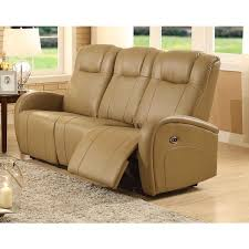 easy living swiss leather power reclining sofa with usb free