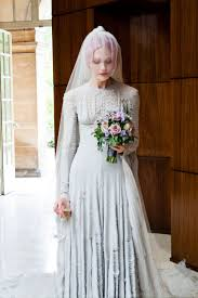 coloured wedding dresses uk wedding dress trends through time v a wedding dresses exhibition