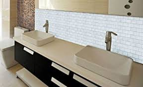 amazon com crystiles peel and stick self adhesive diy backsplash