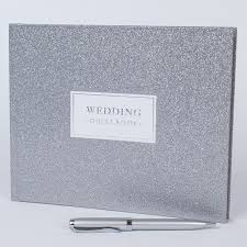 wedding guest book and pen glittery wedding guest book and pen only 3 99