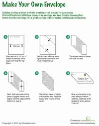 how to make your own envelope how to make an origami envelope worksheet education com