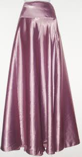 silk skirt purple chagne silk skirt