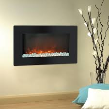 cambridge callisto 30 in wall mount electric fireplace in black