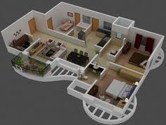 modern bungalow floor plan 3d small 3 bedroom floor plans house