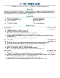 Sample Resume Driver by Sample Resume Delivery Driver Resume For Your Job Application