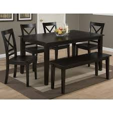 Dining Table With Bench With Back Jofran Simplicity Rectangle Dining Table And
