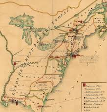 Ohio River On Map by The Proclamation Line Of 1763