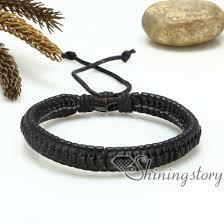 leather bracelet woven images Pu leather drawstring bracelets snake chain adjustable bracelets jpg
