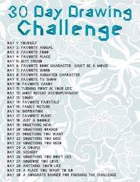 Challenge How Do You Do It 30 Day Drawing Challenge I Ll Bet You Could Apply This To