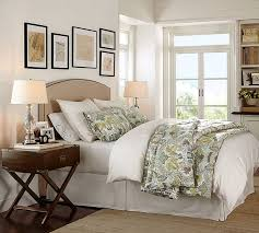 Pottery Barn White Comforter Fillmore Curved Upholstered Tall Bed U0026 Headboard Pottery Barn