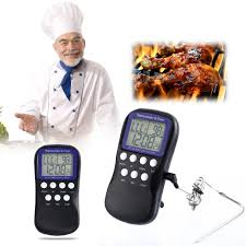 timer cuisine digital oven thermometer cuisine timer temperature sensor lcd bbq
