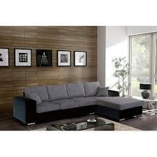 canapé d angle gris et noir canapé d angle 5 places harmonia avec toucher doux et sa