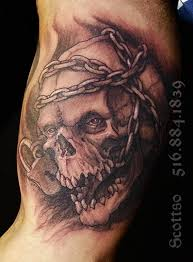 biomechanical skull on biceps in 2017 photo pictures