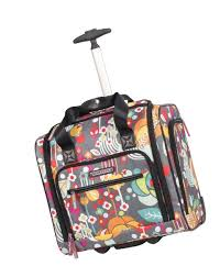 lilly bloom bloom the seat design pattern carry on bag with wheels