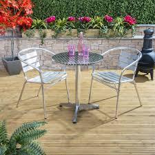 Aluminium Bistro Chairs Café Aluminium Bistro Set