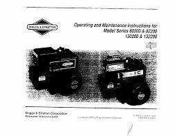 briggs u0026 stratton automobile parts 130200 user guide