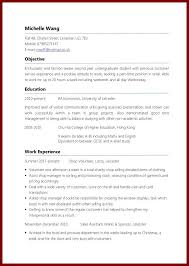 Resume Sample For It Jobs by Example Of Job Resume First Job Resume Template Resume Examples