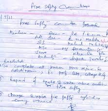 fire safety writing paper pdumc circular no 2 04 07 2011