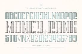 vintage money alphabet letters and numbers vector font type