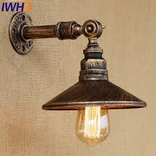 Edison Wall Sconce Iwhd Retro Loft Style Antique Water Pipe L Industrial Edison