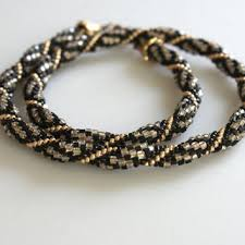 black beaded rope necklace images Best spirale crochet beaded rope necklace products on wanelo jpg