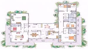 house plans u shaped floor plan youtube with central courtyard