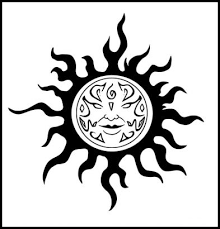 tribal sun tribal sun pictures of tattoos design pinteres