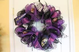 baltimore ravens wreath deco mesh mini pennant
