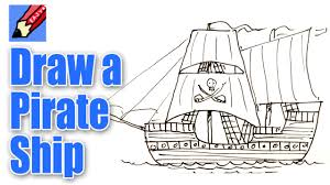 draw pirate ship easy