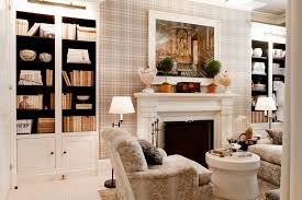Mismatched Bedroom Furniture by Black Built In Bookshelves Living Room Traditional With White