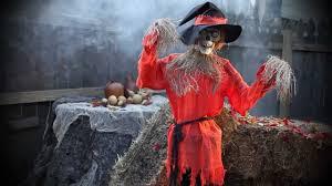 scarecrow animated halloween decoration youtube