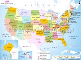Alaska And Usa Map by Maps Of The United States Colorful Usa Map States Capital Cities
