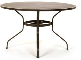 48 In Round Dining Table Caluco San Michele Aluminum 48 Round Metal Dining Table With