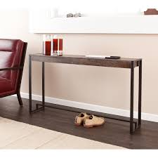 furniture accessories rectangular brown varnished wooden console