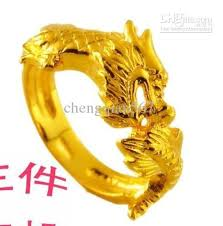 dragon rings gold images Yellow gold fashion men 39 s ring carvd dragon all size wedding bands jpg