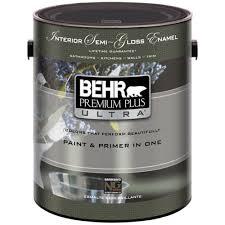 Home Depot Interior Behr Premium Plus Ultra 1 Gal Pure White Semi Gloss Interior