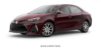 what paint color options are available on the 2017 toyota corolla
