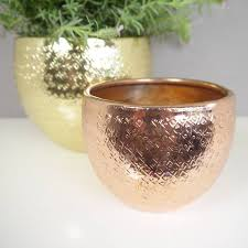 rose gold plant pots by deservedly so notonthehighstreet com