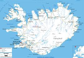 detailed clear large road map of iceland ezilon maps