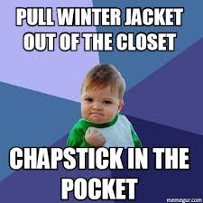 Cold Meme - a little success on a cold morning meme guy