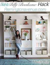 Hack Design This Home Ikea Billy Bookcase Library Hack Remington Avenue
