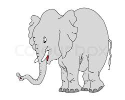 sketch of elephant on the white stock vector colourbox