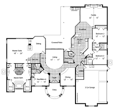 Mediterranean Floor Plans San Simeon 4136 4 Bedrooms And 3 Baths The House Designers